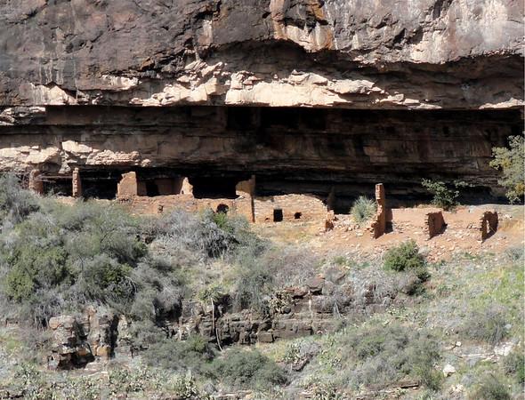 Pueblo Canyon Ruins Hike, 2-27-12